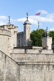 View of the walls of the Tower of London, London, Great Britain stock image