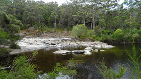 View of the Walpole River Western Australia in autumn. Royalty Free Stock Images
