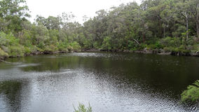 View of the Walpole River Western Australia in autumn. Stock Photos