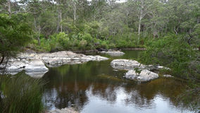 View of the Walpole River Western Australia in autumn. Stock Photo