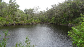 View of the Walpole River Western Australia in autumn. Royalty Free Stock Image