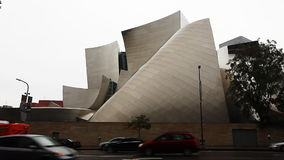 A view of The Walt Disney Concert Hall in Los Angeles. View of The Walt Disney Concert Hall in Los Angeles stock video footage