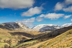 A view from Wansfell Pike looking towards the kirkstone Pass. Stock Images