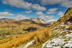 A view from Wansfell Pike looking towards Red Screes. Stock Photography