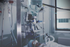 The view of ward with comatose patient Royalty Free Stock Photography