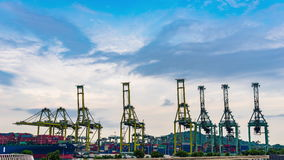 View of Warehouse Port background in Singapore Day time stock video footage