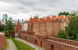 View of Warsaw Barbican in Poland Royalty Free Stock Photography