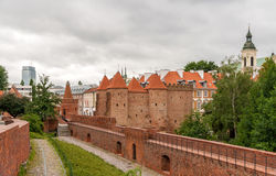 View of Warsaw Barbican - Poland Royalty Free Stock Photography