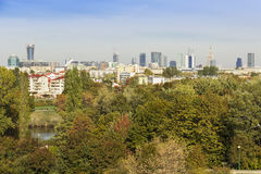 View of Warsaw - capital of Poland. Stock Photos