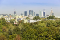 View of Warsaw - capital of Poland. Stock Image