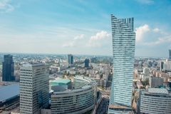 View of Warsaw city from the top of the Palace of Culture and Science in Warsaw, Poland Stock Photo