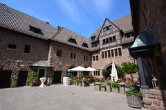 View of Wartburg castle near the historical town of EISENACH, Thuringia, Germany.  stock photo