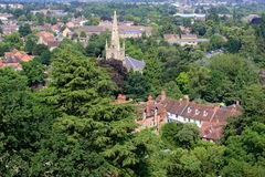 View from the Warwick castle Stock Image