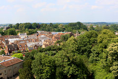 View from the Warwick castle Royalty Free Stock Photos
