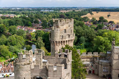 View of Warwick castle Stock Photos