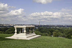 View of Washington DC from Arlington National Cemetery. Well worth the sweaty walk up Royalty Free Stock Photos