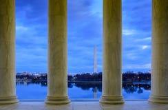 View of Washington DC Through Columns Royalty Free Stock Photos