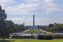 View on Washington Monument from Capitol Hill, USA Royalty Free Stock Photos