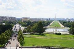 Washington monument from Capitol balcony royalty free stock image