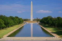 View of Washington Monument without people Stock Photo