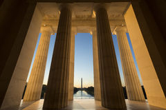 View of Washington Mounument From Lincoln Memorial Stock Photography