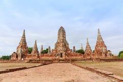 View of wat chaiwatthanaram temple, ayutthaya, thailand Royalty Free Stock Images