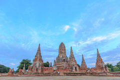 View of wat chaiwatthanaram temple, ayutthaya, thailand Royalty Free Stock Photo