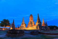 View of wat chaiwatthanaram temple, ayutthaya, thailand Royalty Free Stock Image