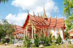 View of the Wat Chalong in Phuket, Thailand Royalty Free Stock Photos