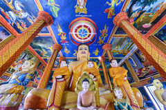 View of Wat Lolei temple interior, Cambodia Royalty Free Stock Photography