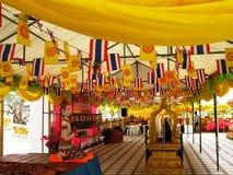 View at Wat Nong Yai Pattaya. Under the tent at Wat Nong Yai at Pattaya Thailand Stock Photos
