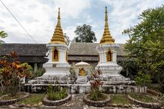 View of wat Phaphay in Luang Prabang, Laos royalty free stock photography