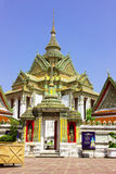 View Wat Pho. View of Wat Pho  temple are old Temple are tourist attraction important of Thailand Royalty Free Stock Photography
