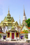 View Wat Pho. View of Wat Pho  temple are old Temple are tourist attraction important of Thailand Stock Images