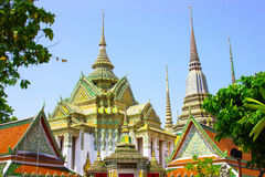 View Wat Pho. View of Wat Pho  temple are old Temple are tourist attraction important of Thailand Royalty Free Stock Photo