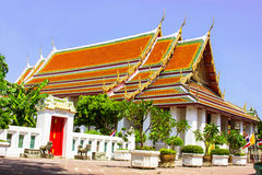 View Wat Pho. View of Wat Pho  temple are old Temple are tourist attraction important of Thailand Stock Photography