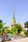 View Wat Pho. View of Wat Pho  temple are old Temple are tourist attraction important of Thailand Stock Photo
