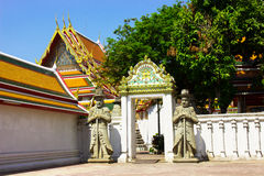 View Wat Pho. Wat Pho  temple are old Temple are tourist attraction important of Thailand Stock Photography