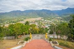 View from Wat Phra That Doi Kong Mu Thailand. View from Wat Phra That Doi Kong Mu in Mae Hong Son, Thailand Royalty Free Stock Images