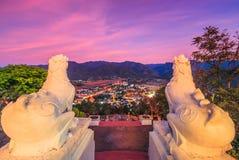 View from Wat Phra That Doi Kong Mu, Thailand Royalty Free Stock Photos