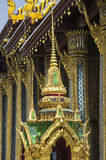 View of Wat Phra Kaeo temple. Bangkok. Thailand. Bangkok, Grand Royal Palace, Wat Phra Kaeo, decorative details Royalty Free Stock Image