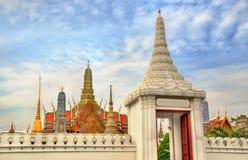 View of Wat Phra Kaew temple at the Grand Palace in Bangkok Royalty Free Stock Photo