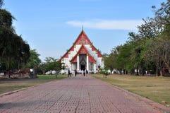 View Wat Phra Mongkolpraphitar Temple. At Ayutthaya,Thailand Royalty Free Stock Image