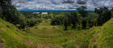 View from Wat Phu Champasak temple Royalty Free Stock Image