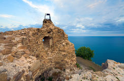 View from watchtower at sea Stock Image