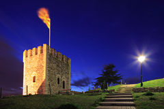 A view of a watchtower in Skopje Stock Photography