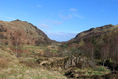 View from Watendlath down Watendlath Beck, Cumbria Royalty Free Stock Images