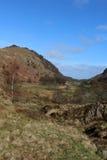 View from Watendlath down Watendlath Beck, Cumbria Stock Photo