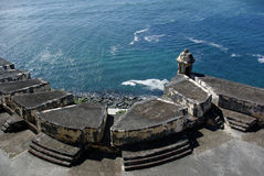 View of the water. View from the El Morro fort Royalty Free Stock Photography