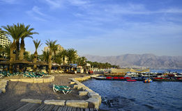 View on water atractions in Eilat, Eilat Royalty Free Stock Photo